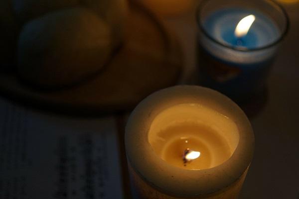 Kerze der Trauer für Helmut Kohl