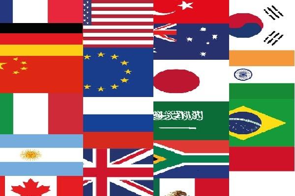 Flaggen der G20 Länder